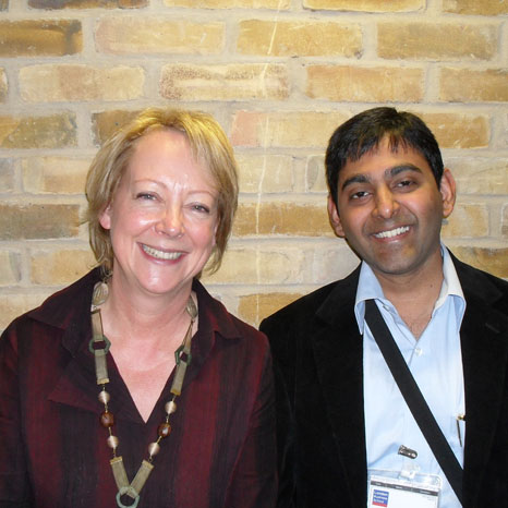 Karthik Nagendra with Prof Lynda Gratton